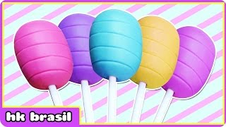 Pirulito De Massa De Modelar - Pirulitos De Massinha - Play Doh Lollipops