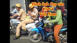 Hình ảnh đẹp của CSGT Việt Nam: mô tô hú vang, mở đường đưa cháu bé đi bệnh viện