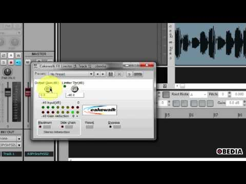 CAKEWALK SONAR: How to use a Limiter