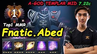 Fnatic Abed - [Templar Assassin] A-GOD MIDLANE Top1 MMR INSANE RIGHT CLICK Dota 2 7.22c Gameplay