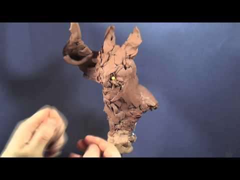 daemon bust sculpture by Roquelaine cyril part 1