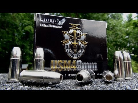 AMMO REVIEW:  9mm Liberty Ultra Defense 50 gr JHP (Halo Point)
