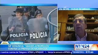 """""""Están intentando un apagón informativo en Nicaragua para sostener al régimen"""""""