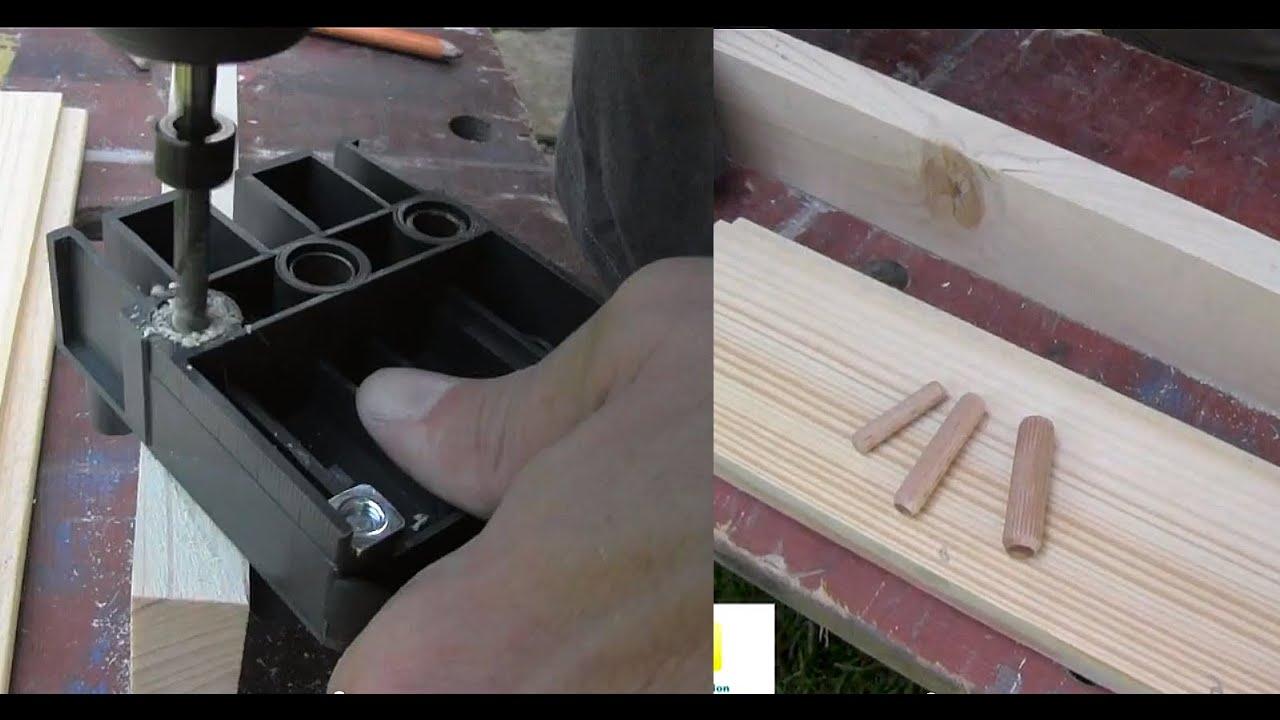 assemblage bois par cheville bois youtube. Black Bedroom Furniture Sets. Home Design Ideas