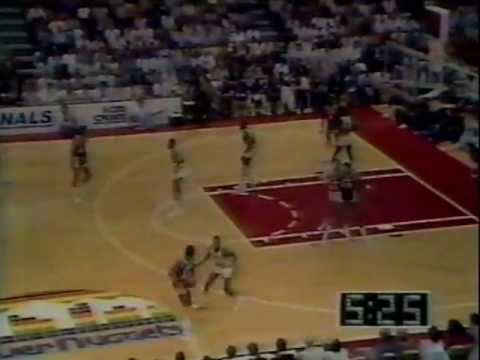 Kareem Abdul-Jabbar (29pts/12rebs/8asts/4blks) vs. Nuggets (1985 Playoffs)