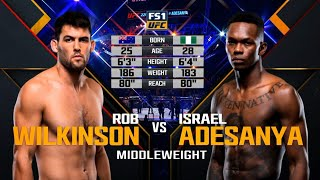 UFC Debut: Israel Adesanya vs Rob Wilkinson | Free Fight