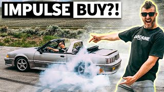 Ken Block Buys a Fox Body Mustang for $4,000. Drop Top Burnouts!