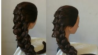 Everyday side braid for girls l party hairstyle l 2 minutes braid hairstyles2019 l french braid