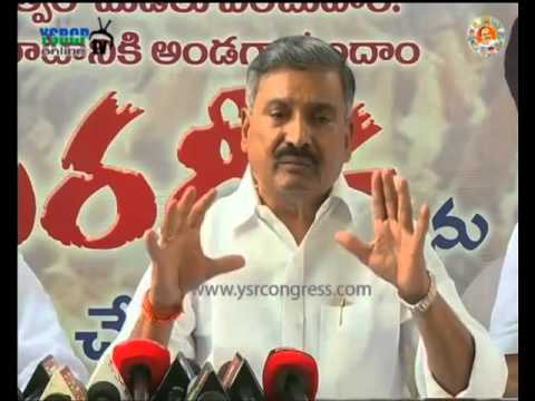 Vijayawada   MLA Peddi Reddy speaks on YS Jagan Deeksha, Special status   5th Oct 2015