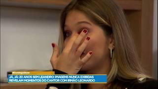 Lyandra, filha de Leandro, se emociona ao se recordar do pai