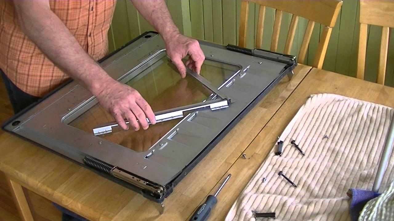 Diy Samsung Range How To Clean The Oven Door S Interior