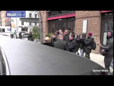 Christina Aguilera and Matthew Rutler leaving hotel in New York (17/04/2014)