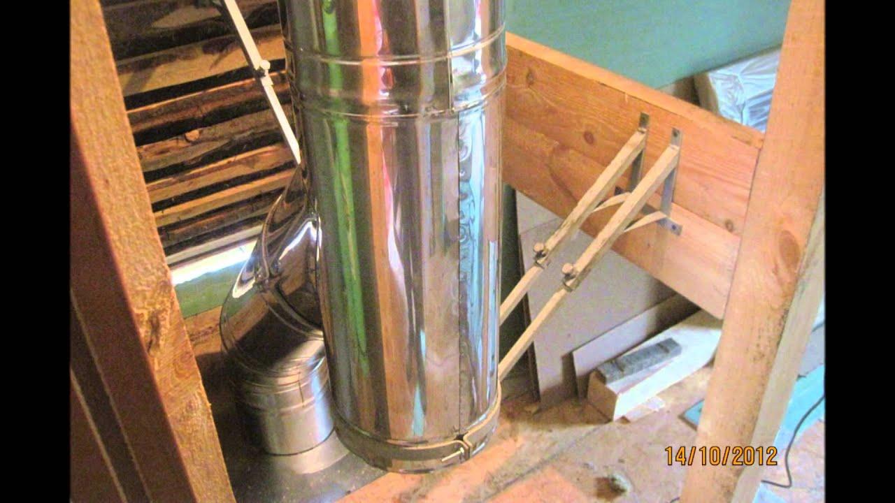 Проход дымохода через деревянное перекрытие - нормативы и технология 32