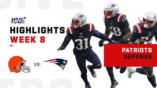 Patriots Defense Gets 5 Sacks vs. Baker | NFL 2019