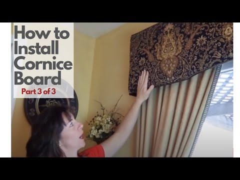 DIY Cornice Board Installation