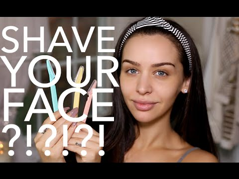 How I Shave My Face Carli Bybel