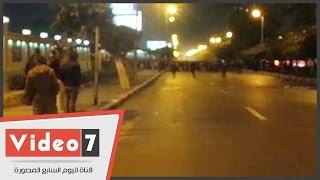ألتراس أهلاوى يقطعون طريق صلاح سالم بمحيط استاد القاهرة