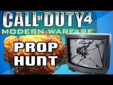 Call of Duty 4: Prop Hunt Funny Moments - Nogla Scream, Delirious the Noob, and Juking Nogla!