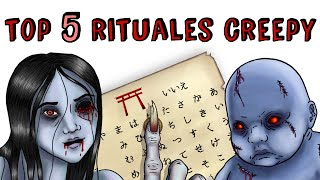 TOP 5 RETOS CREEPYS | Draw My Life