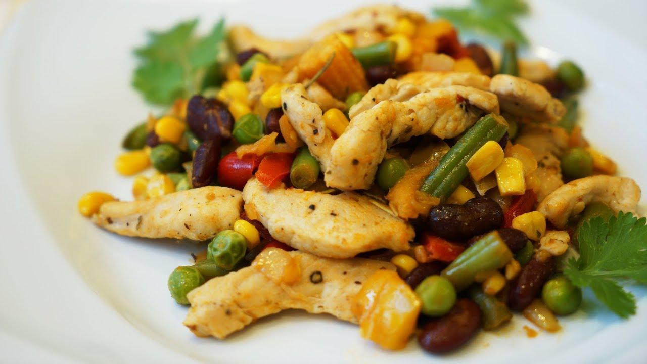 Замороженные овощи с куриным филе рецепты