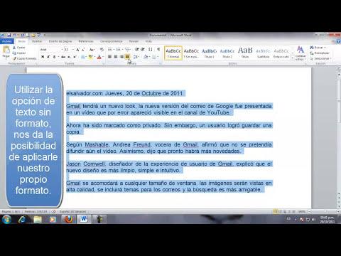 No solo se trata de Copiar y Pegar - Opciones de pegado en Word 2010