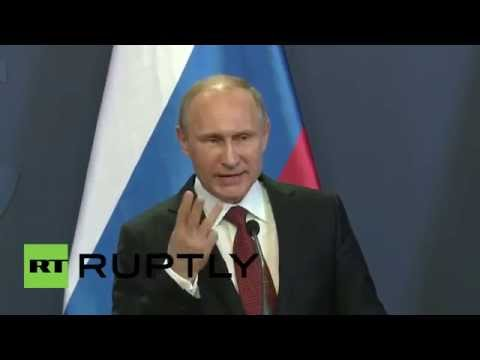 LIVE: Vladimir Putin meets Viktor Orban in Budapest - PRESS CONFERENCE IN ENGLISH (fixed sound)