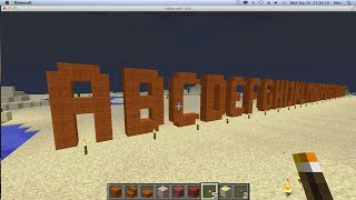 ABC alphabet in MINECRAFT, learn to build