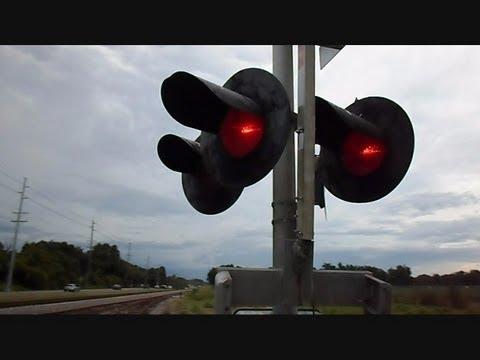 Railroad Crossing Light Gets Damaged Causing Malfunction