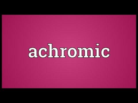 Header of achromic