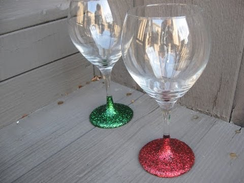 Glitter Stemware Craft Tutorial