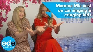 Mamma Mia 2: Cast on car singing & cringing kids