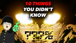 10 Things You Didn?t Know About Mob Psycho 100! - Mob Psycho 100 Anime Facts