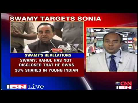 Sonia Gandhi and Rahul Gandhi grabbed property worth Rs 1,600 crore: Subramanian Swamy