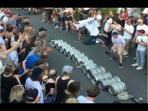 INSTABLAST! - INSANE 13 Barrel Hippy JUMP!! PERFECT Wallie Bs Flip!?!! Switchflip 270 Bs LipSlide!!