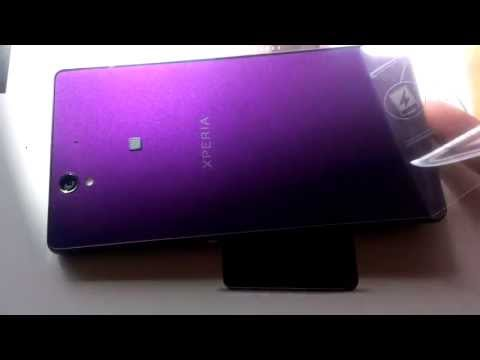 Sony xperia z purple unboxing