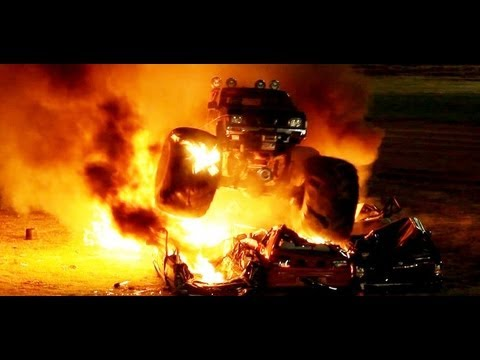 Smashfest 2012 Demon Energy Monster Truck Crane Drops Roll overs