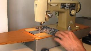 Sewing machine Швейная машина Ideal Deluxe Voll Zick-Zack test  хб ткань, джинс, кожа.
