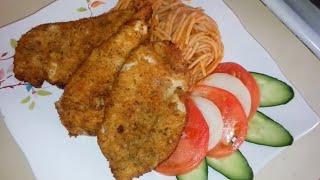 سر أفضل وأسهل طريقة لعمل الفراخ البانيه مع الشيف أيمن حسن.breaded chichen breast