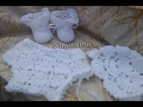 Baby Heirloom crochet set ,baby daisy hat & sweater set| Fresh off tha hook |...