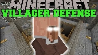 Minecraft: DEFEND THE VILLAGER (DON'T LET THEM DIE!) Mini-Game