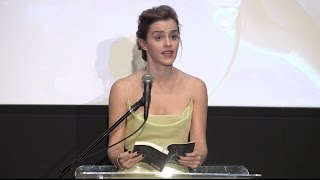 Disney's Beauty and The Beast: Emma Watson Reads to Kids at Film Society Lincoln Center