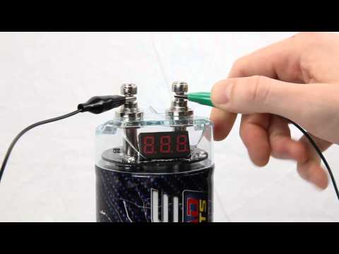 How to install a car audio capacitor?