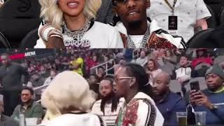 Cardi B , Offset Interview at the Hawks game with Quavo plus more from migos