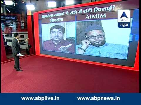 ABP LIVE: Heated debate between Asaduddin Owaisi & Prem Shukla (Shiv Sena)