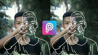 Edit Cara Membuat Line Art Di PicsArt | PicsArt Tutorial