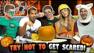 TRY NOT TO GET SCARED CHALLENGE! (Halloween Special)