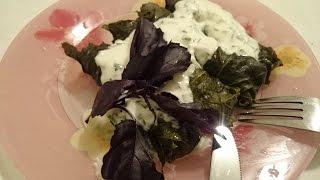 Долма рецепт с фаршем в виноградных листьях как приготовить блюда вкусно со сметанным соусом