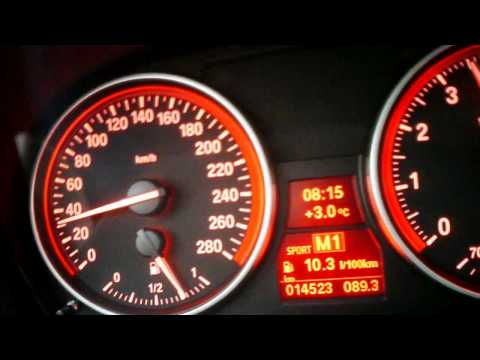 BMW 335i Cabrio (306 HP)  0-200 km/h full acceleration