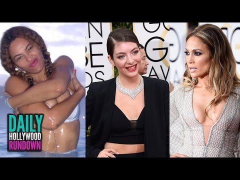 Beyonce Teases Pregnancy - WTF Moments From 2015 Golden Globes (DHR)