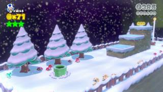 3-1: Snowball Park Speedrun (21 Seconds) - Super Mario 3D World